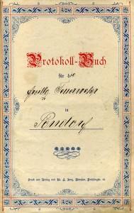 Protokollbuch 1907