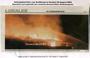 Großbrand 2004